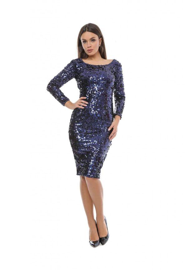 rochie paiete albastra big mag