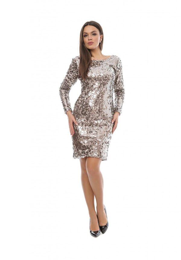 rochie paiete argintie big mag