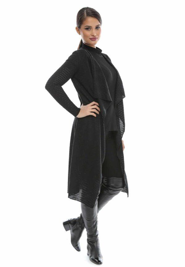 Cardigan negru elegant