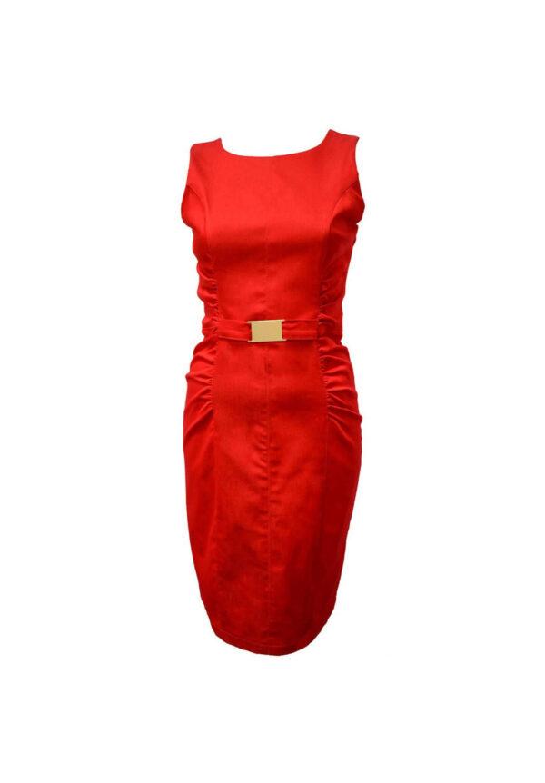 Rochie rosie de vara model nou magazin haine big mag