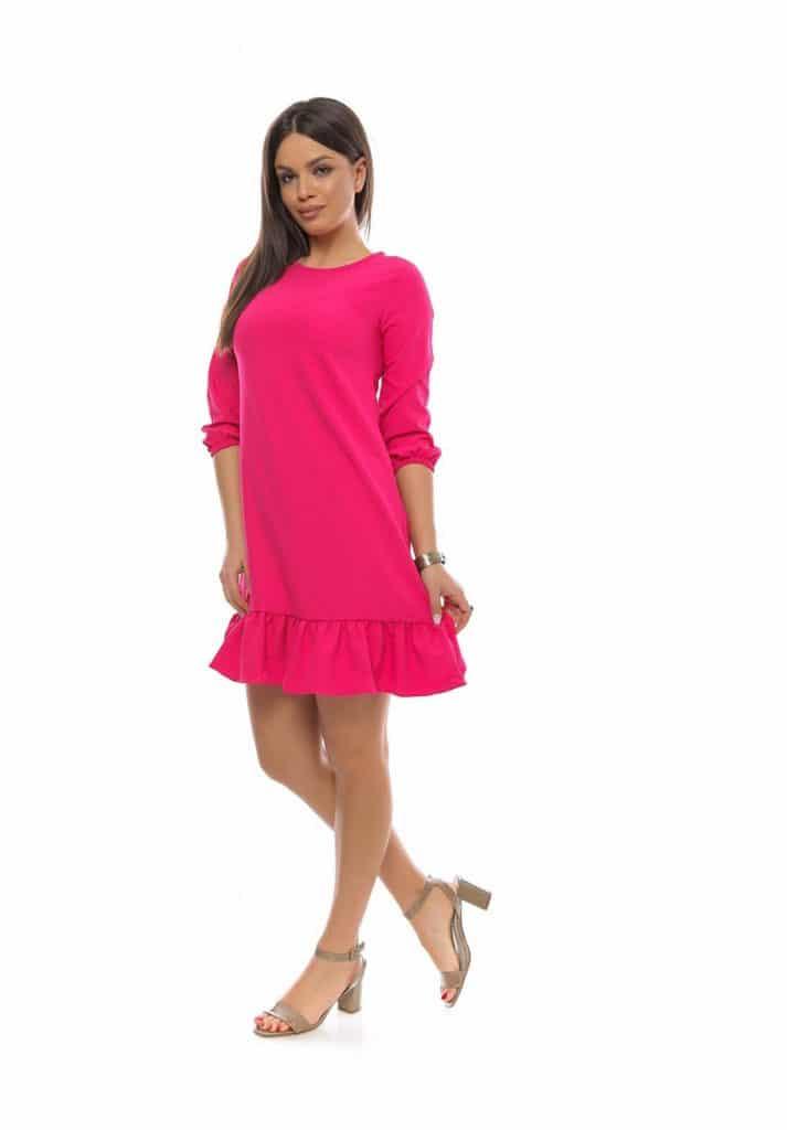 Rochie eleganta lejera rosie