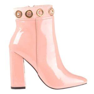 Pantofi eleganti cu toc dama Metropol roz