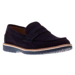 Pantofi barbati Clark albastri fara sireturi