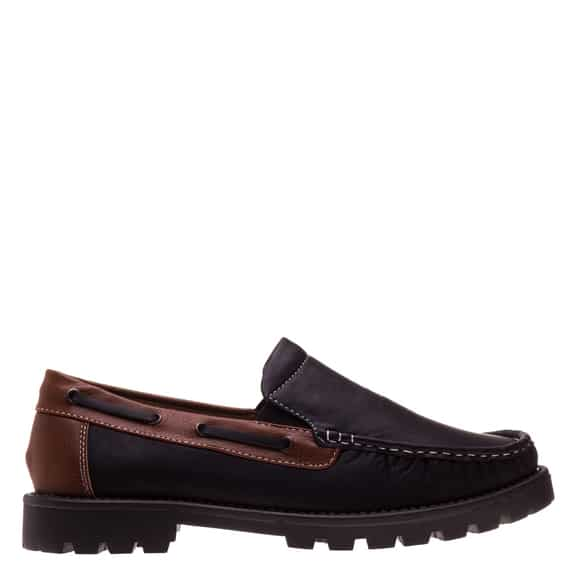 Pantofi Barbati Gill negru cu maro