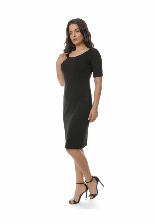 Rochie midi mulata Neagra model clasic