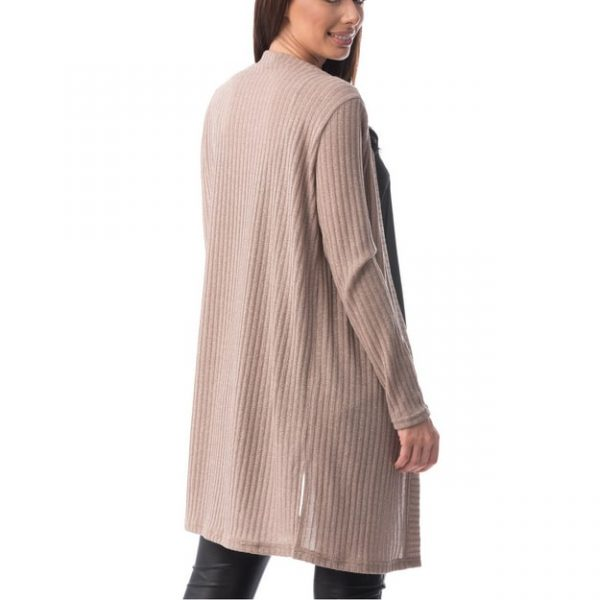 Cardigan lung cu maneci lungi, Tricotat din Lana