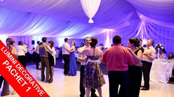 Jocuri de Lumini la Nunta Ambientale Decorative