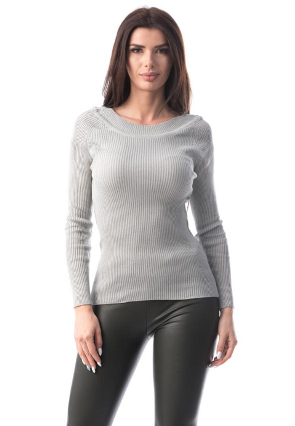 Bluza gri simpla eleganta dama