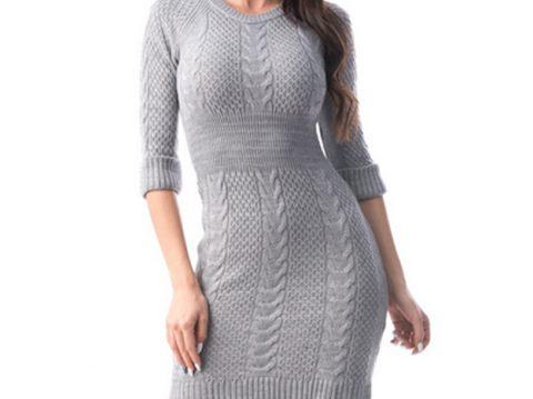Rochie eleganta tricotata diferite culori an gro