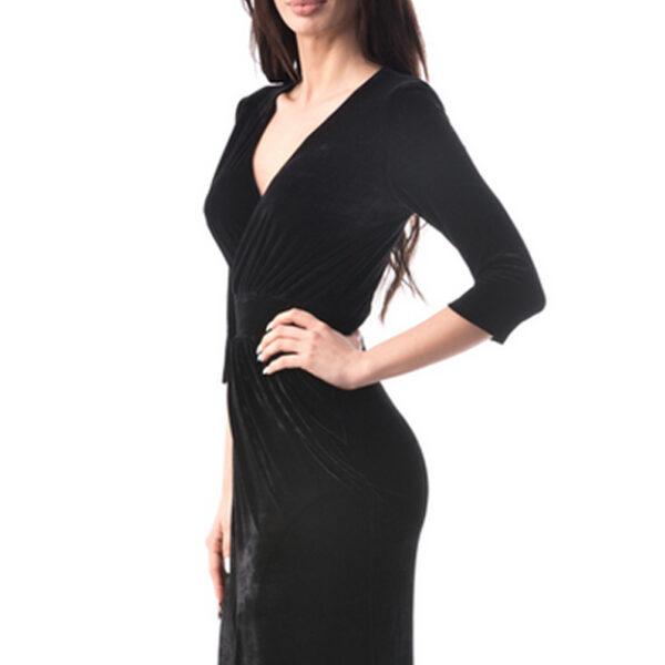 Rochie neagra de catifea