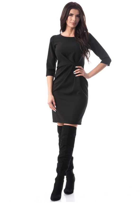 Rochie neagra la mode de zi si seara