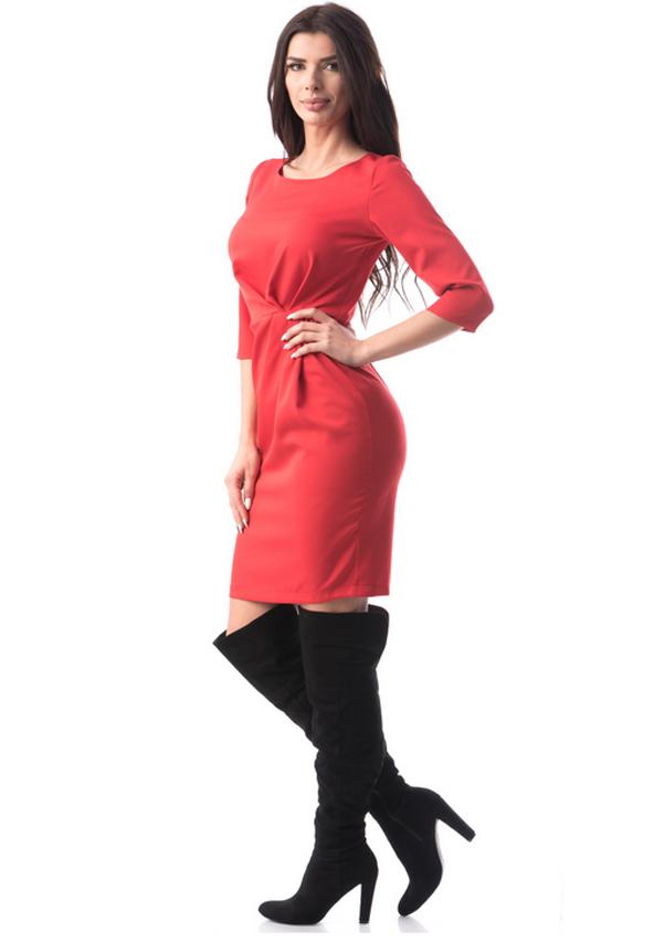 Rochie rosie la mode de zi si seara