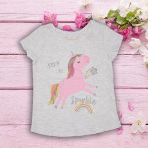 Tricou Gri pentru Fetite