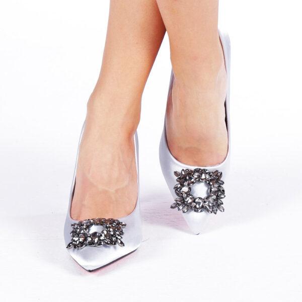 Pantofi dama eleganti din matase