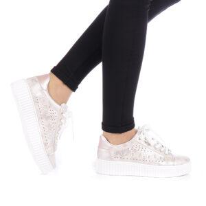 Pantofi sport dama champanie