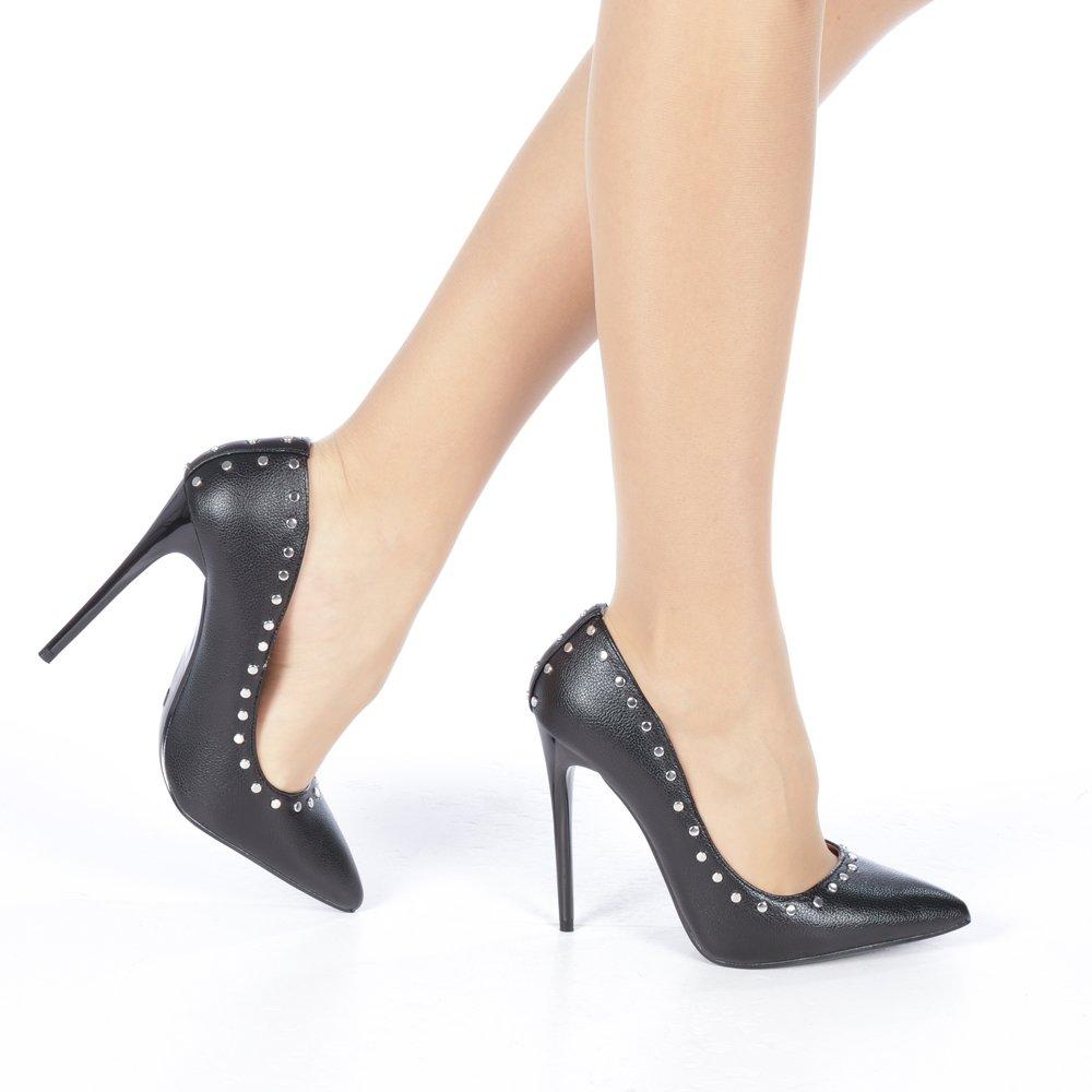 Pantofi stileto negri pentru ocazii