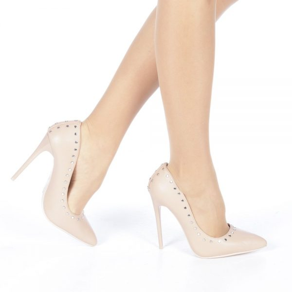 Pantofi stileto roz pentru ocazii