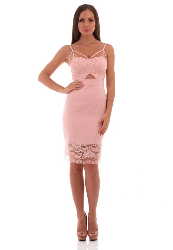 Rochie pentru ocazii mulata pe corp roz