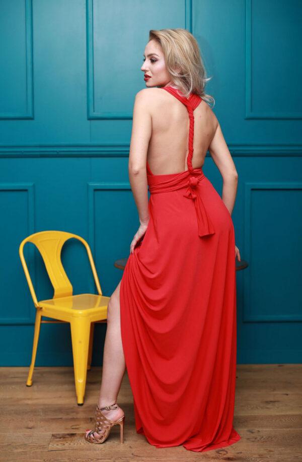 Rochie rosie pentru ocazii