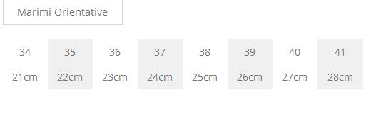 tabel marimi pantofi
