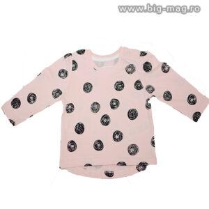 Bluza fetite roz cu buline