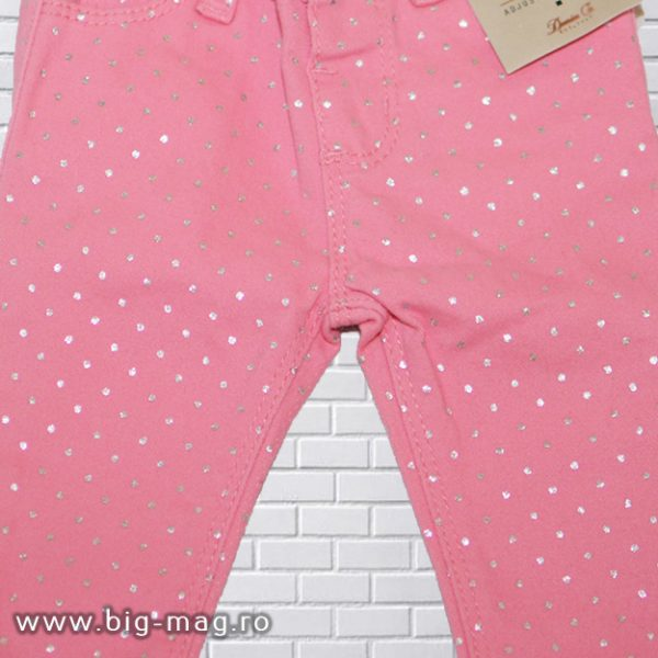 pantaloni roz fetita model nou