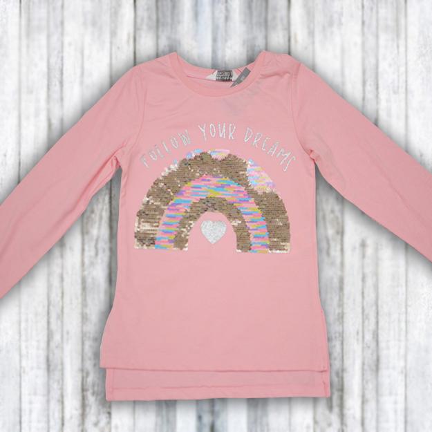 Bluzita roz cu paiete reversibile