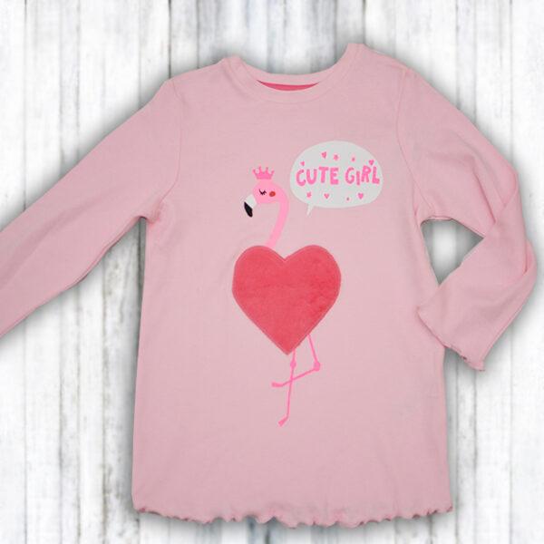 Bluza roz Fetite cu Inimioara