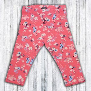 Pantaloni Fetite cu imprimeu floral