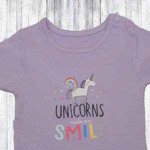 Tricou copii violet Unicorns