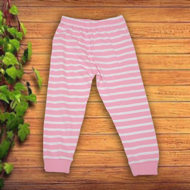 Pantaloni alb roz fetite