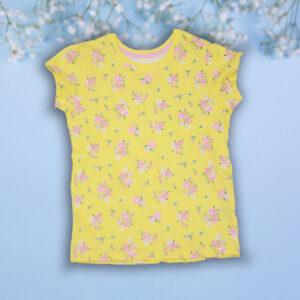 Tricou galben cu Floricele