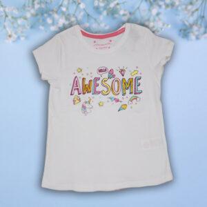 Tricou Alb pentru Fetite