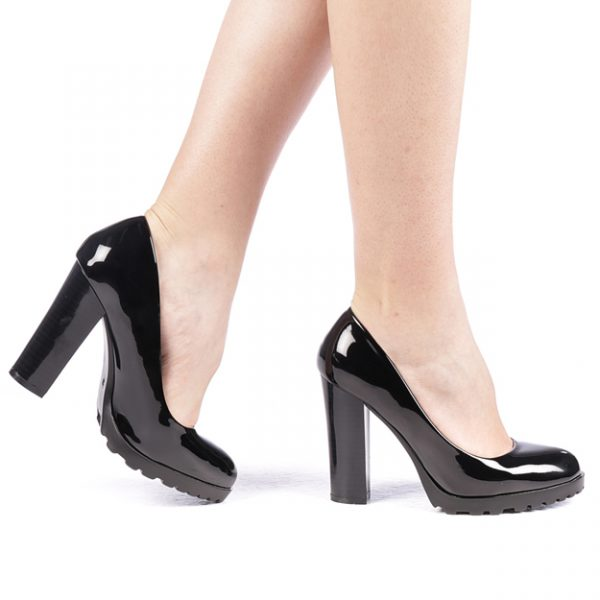 Pantofi dama cu toc negri