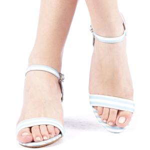 Sandale dama toc de 7 cm albastru