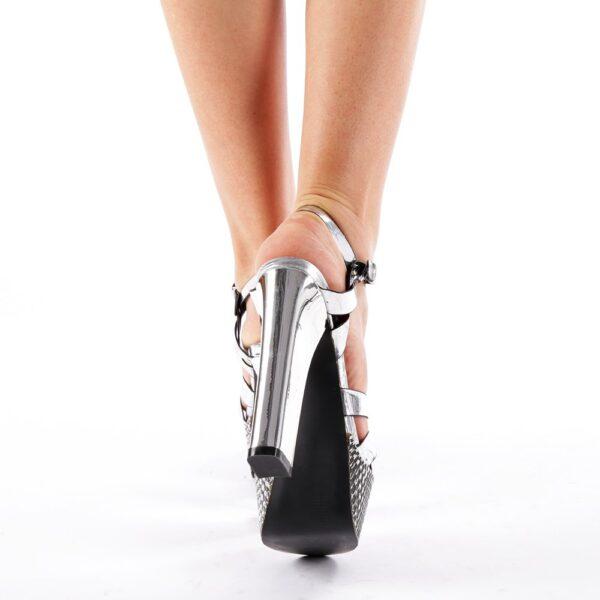 Sandale femei cu platforma argintii