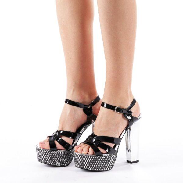 Sandale femei cu platforma negre