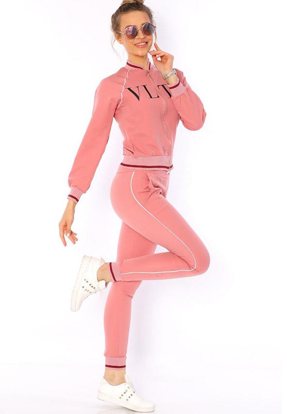 Trening din crep roz 2 piese