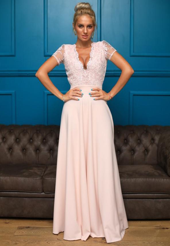 Rochie roz de seara pentru ocazii