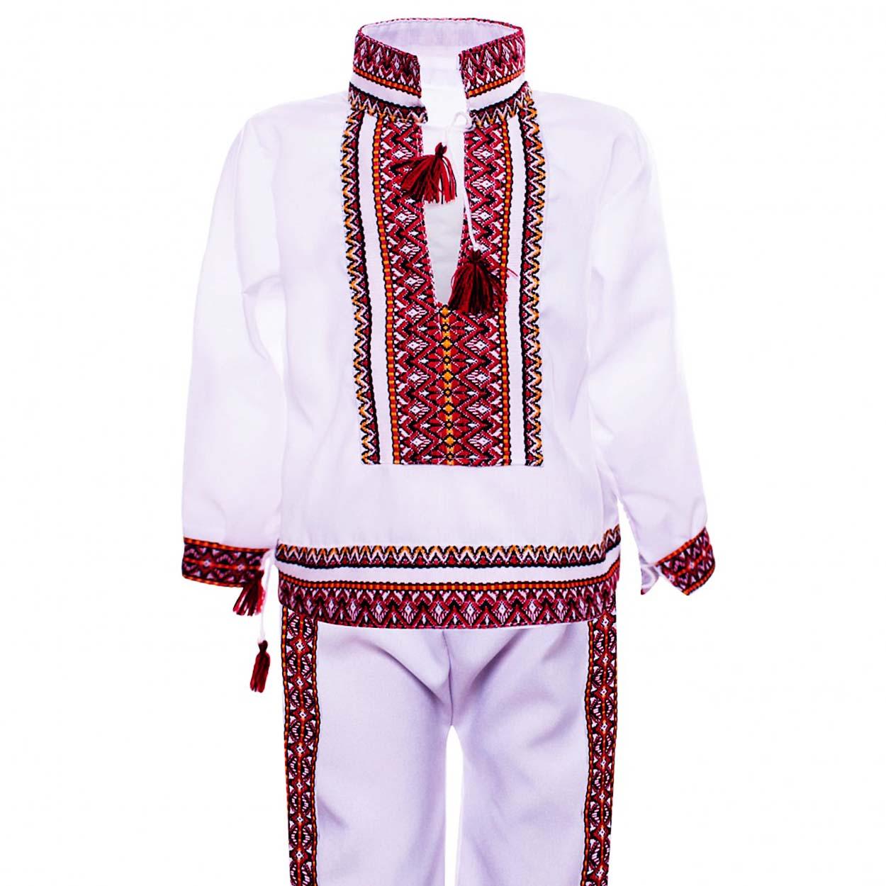 מחירים זולים איכות מצויינת בסיטונאות Costum Popular pentu baieti din 2 piese Alb cod130 -