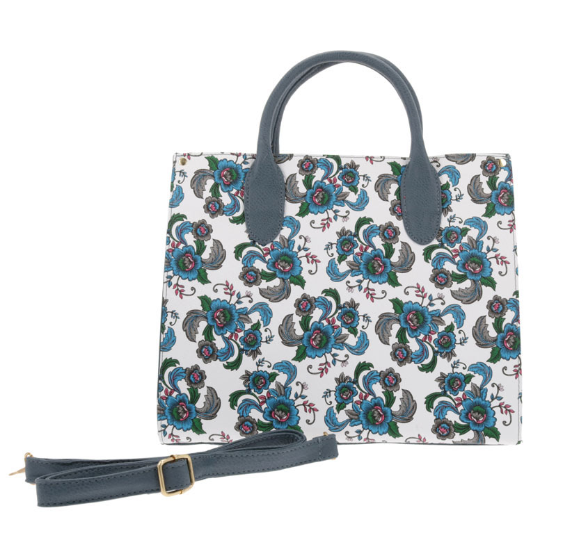 Geanta Dama Flower Multicolor Navy